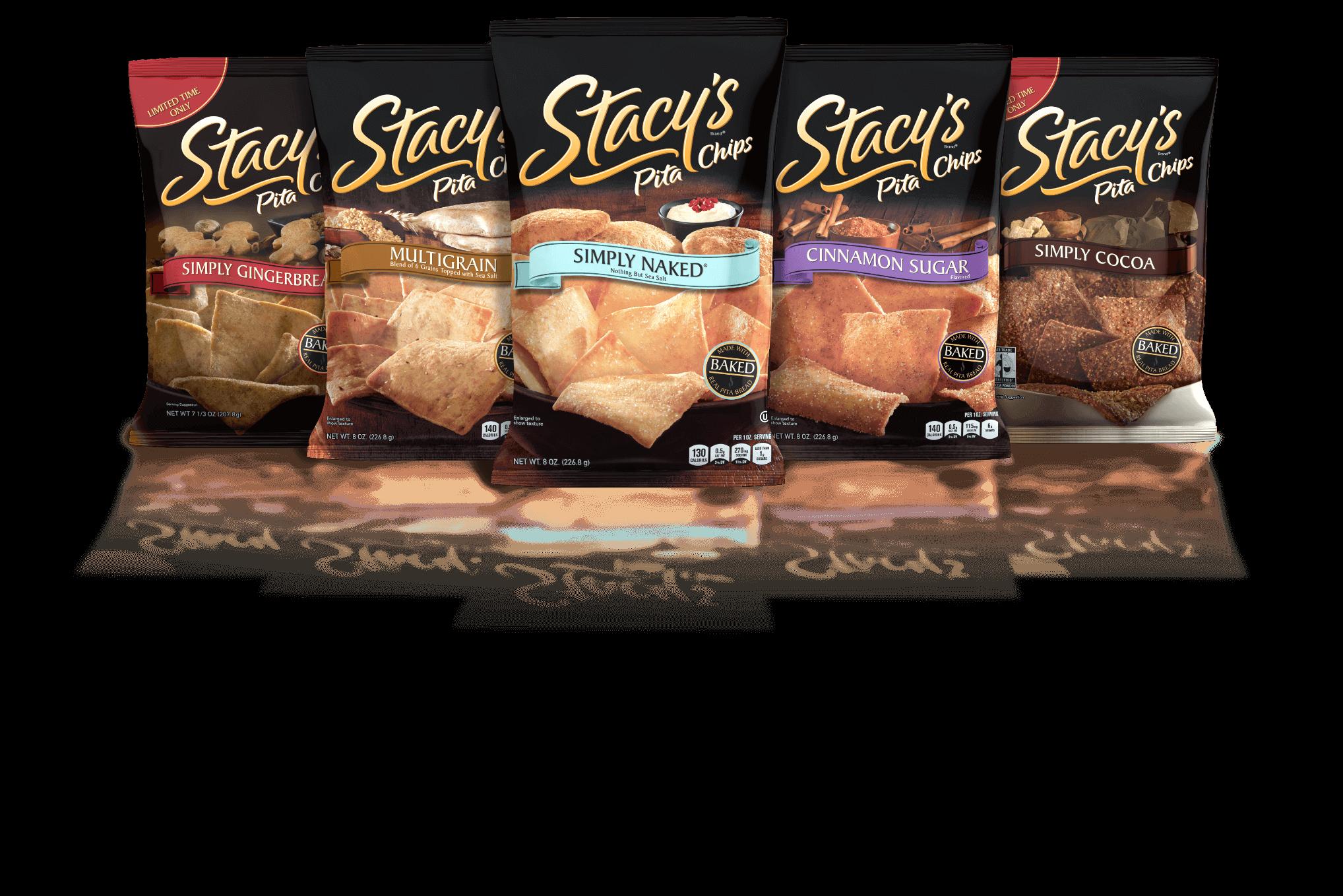 Stacy's Pita Chips bag line ups